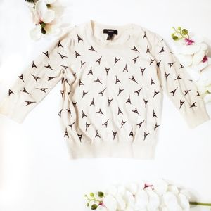 Forever 21 Eiffel Towers Sweater ▪︎Size Med